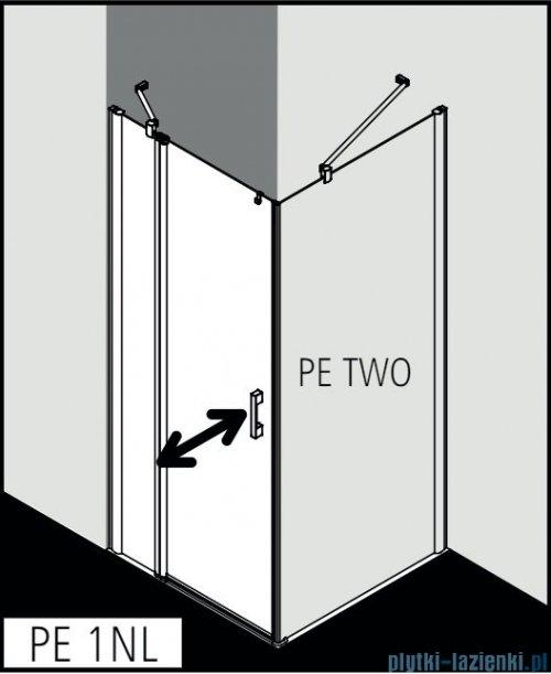 Kermi Pega drzwi wahadłowe 1-skrzydłowe z polem stałym 80 cm lewe przejrzyste PE1NL08020VPK