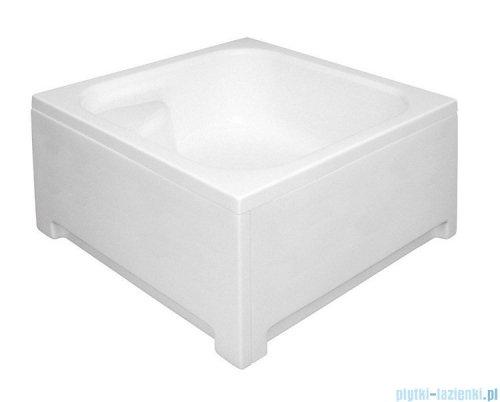 Polimat Kobe 2 brodzik kwadratowy ze stelażem i siedziskiem 80x80x26cm 00075