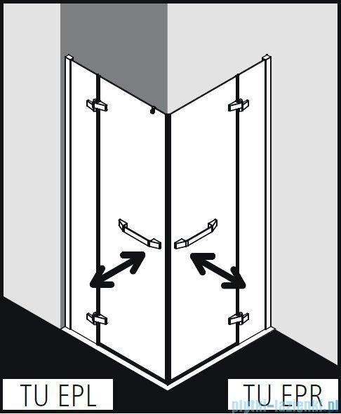 Kermi Tusca wejście narożne, jedna połowa, lewa, szkło przezroczyste KermiClean, profil srebro 80x200cm TUEPL08020VPK