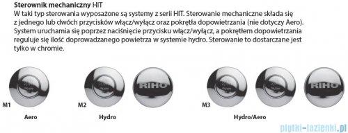 Riho Lyra wanna asymetryczna prawa 170x110 z hydromasażem Hit Aero11 BA63H1