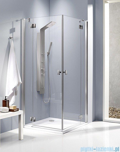 Radaway Kabina prysznicowa Essenza KDD 100x90 szkło brązowe + brodzik Doros D + syfon