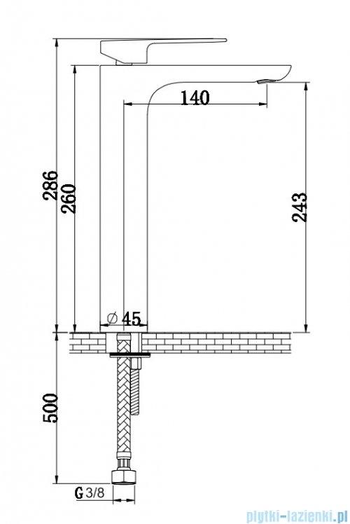 Kohlman Proxima bateria umywalkowa wysoka chrom QB170P