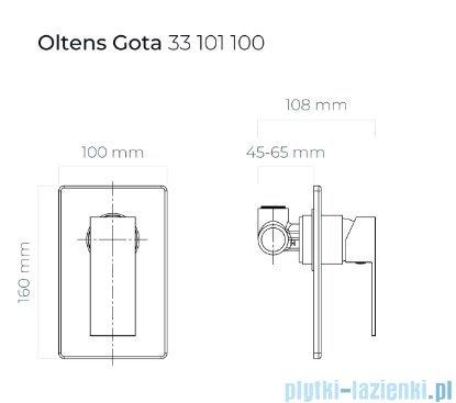 Oltens Gota bateria prysznicowa podtynkowa chrom 33101100