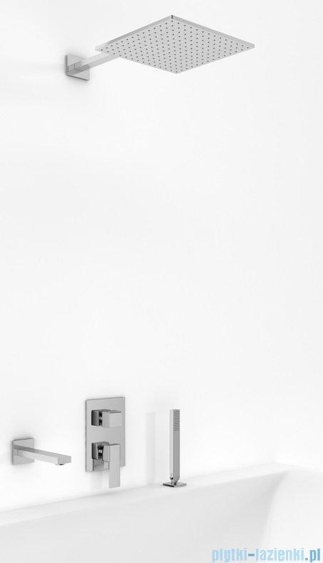 Kohlman Excelent zestaw wannowo-prysznicowy chrom