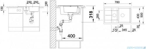 Blanco Metra 6 S Compact Zlewozmywak Silgranit PuraDur kolor: alumetalik  z kor. aut. 513553