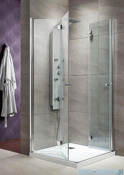 Radaway Eos KDD-B kabina prysznicowa 90x90 szkło intimato + brodzik Delos C + syfon