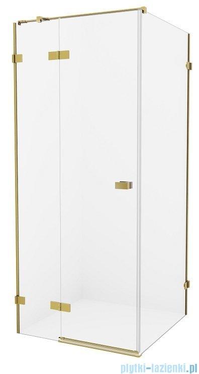 New Trendy Avexa Gold kabina prostokątna 80x100x200 cm przejrzyste lewa EXK-1734