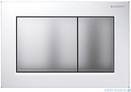 Geberit Omega30 Przycisk uruchamiający przedni/górny biały/chrom matowy/chrom matowy 115.080.KL.1