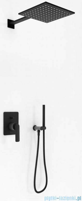 Kohlman Experience Black zestaw prysznicowy czarny mat