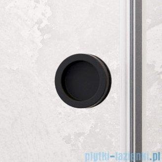 Radaway Furo Black DWJ drzwi prysznicowe 130cm lewe szkło przejrzyste 10107672-54-01L+10110630-01-01