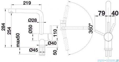 Blanco Linus  bateria wysokociśnieniowa kolor: antracyt 516698