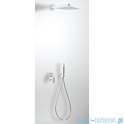 Tres Cuadro Exclusive Zestaw natryskowy z baterią podtynkową kolor biały chrom 4.06.980
