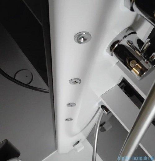 Novellini Glax 2 2.0 kabina z hydromasażem 120x80 prawa czarna G222P120DM1-1HU