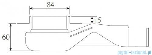 Wiper New Premium Pure Odpływ liniowy z kołnierzem 80 cm mat 100.1973.03.080