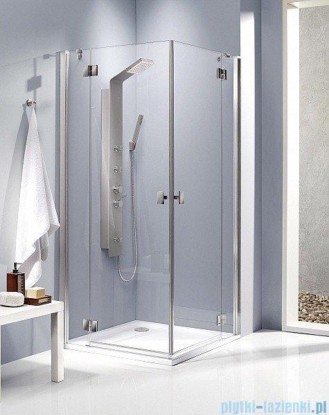 Radaway Kabina prysznicowa Essenza KDD 80x90 szkło grafitowe