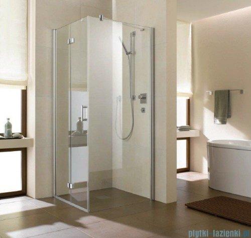 Kermi Diga Ściana boczna, szkło przezroczyste, profile srebrne 70x200cm DITWD07020VAK