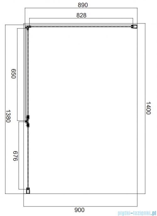 Omnires Manhattan kabina prostokątna 140x90cm szkło przejrzyste MH1490CRTR