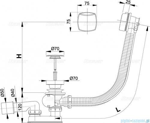 Alcaplast  syfon wannowy automatyczny chrom A51CRM-100