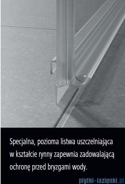 Kermi Nica drzwi przesuwne 2-częściowe z polem stałym lewe 130 cm NID2L13020VPK