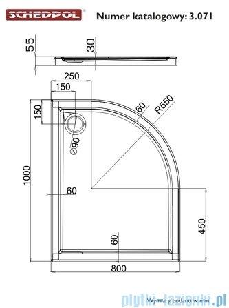 Schedpol Corrina Brodzik akrylowy asymetryczny lewy 80x100x3/6cm 3.071/L