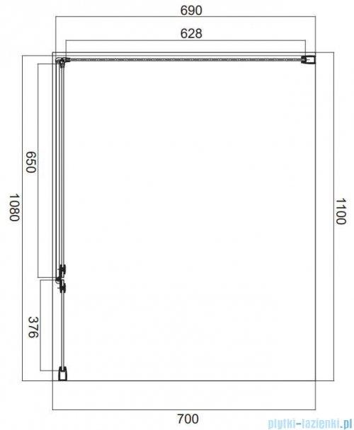 Omnires Manhattan kabina prostokątna 110x70cm szkło przejrzyste MH1170CRTR