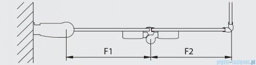 Kermi Diga Wejście narożne,połowa kabiny, prawa, szkło przezroczyste, profile srebrne 90x200cm DI2CR09020VAK