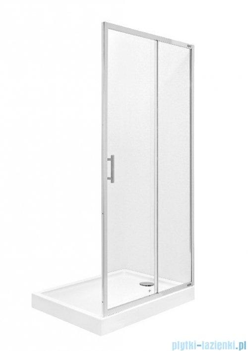 Roca Town Bifold drzwi do wnęki 90cm szkło przejrzyste MaxiClean