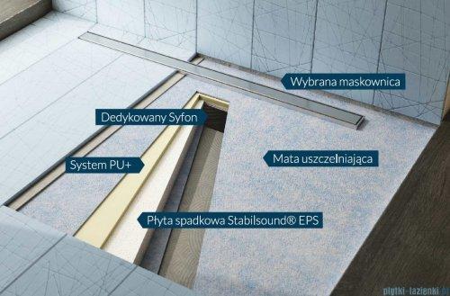 Schedpol brodzik posadzkowy podpłytkowy ruszt Steel 90x90x5cm 10.022/OLSL