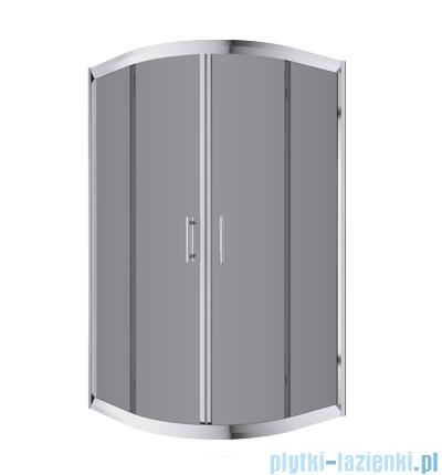 Omnires Health kabina 2-skrzydłowa niska 90x90x165cm szkło grafit JK2809CLC2Grafit