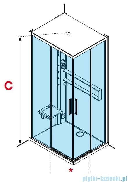 Novellini Glax 2 2.0 kabina z hydromasażem hydro plus 100x80 lewa total biała G22A108SM1L-1UU