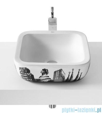 Roca Urban Umywalka nablatowa 40x40cm z grafiką Barcelona A32765S00U