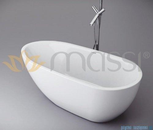 Massi Brevis wanna wolnostająca 150x75 cm biała + syfon MSWA515150