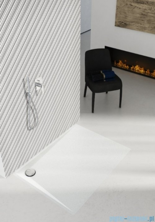 Schedpol Schedline Libra White Stone brodzik prostokątny 110x80x3cm 3SP.L4P-80110