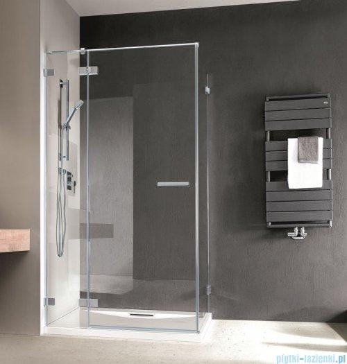 Radaway Euphoria KDJ Kabina prysznicowa 90x90 lewa szkło przejrzyste + brodzik Delos C + syfon