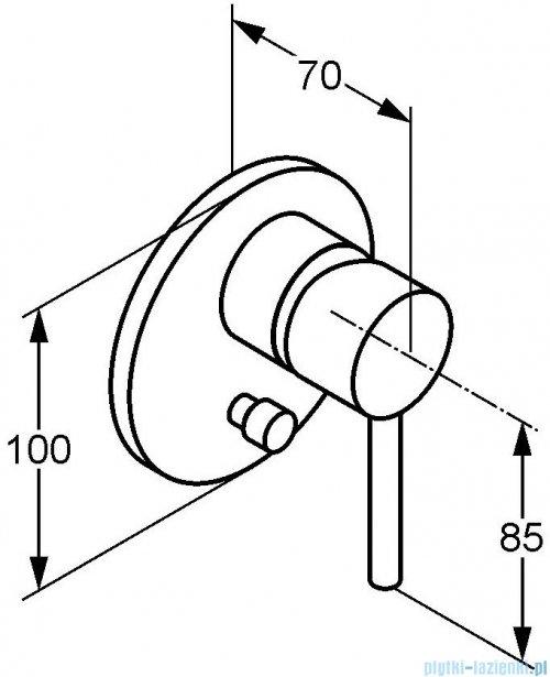 Kludi Bozz Podtynkowa bateria wannowo-natryskowa chrom 387160576