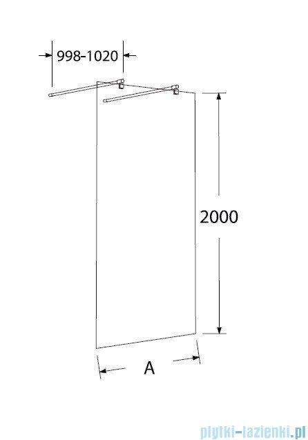 Sea Horse Easy In ścianka prysznicowa typu Walk In 120cm przejrzyste BK252T12