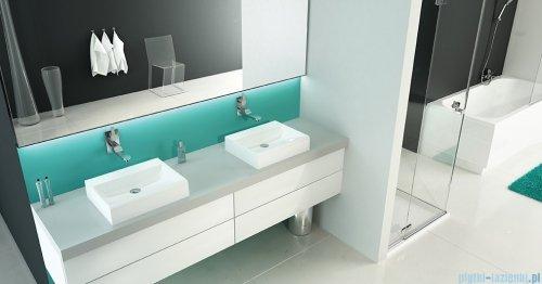 Sanplast Free Mineral umywalka prostokątna nablatowa Unb-M/FREE 55x45x8 cm biała 640-280-0200-01-000