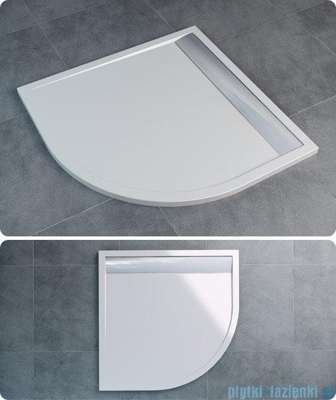 SanSwiss Ila Wir Brodzik półokrągły 80x80cm kolor biały/czarny WIR550800604