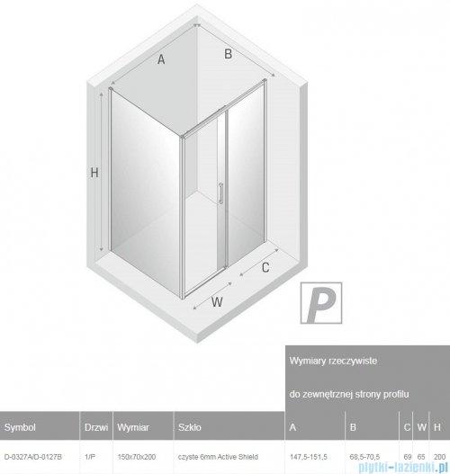 New Trendy Prime Black kabina prostokątna 150x70x200 cm prawa przejrzyste D-0327A/D-0127B