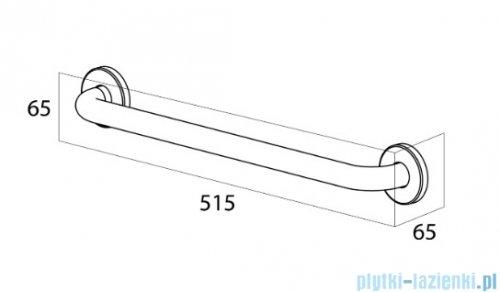 Tiger Libra Uchwyt bezpieczeństwa 45 cm chrom 13302.3.03.46