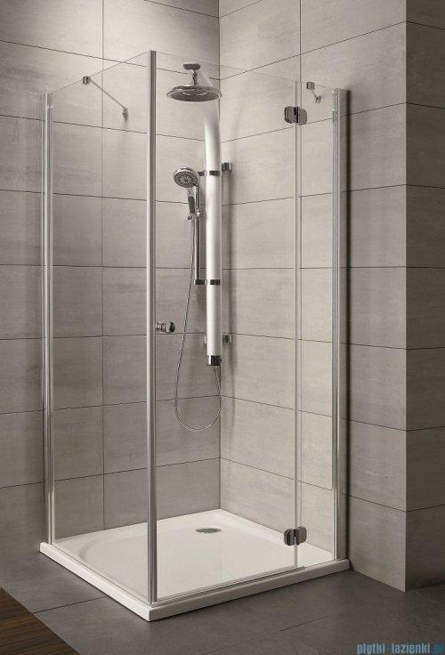 Radaway Torrenta Kdj Kabina prysznicowa 80x100 prawa szkło grafitowe + brodzik Doros D + syfon