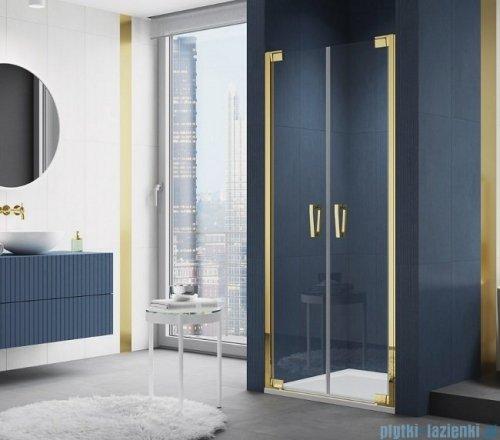 SanSwiss Cadura Gold Line drzwi wahadłowe 75cm dwuczęściowe  CA2C0751207