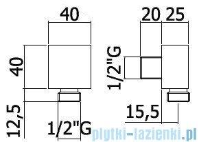 Paffoni Level Przyłącze podtynkowe kątowe ZACC238CR