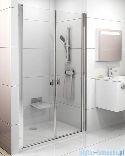 Ravak Chrome CSDL2 drzwi prysznicowe 90cm satyna transparent 0QV7CU0LZ1