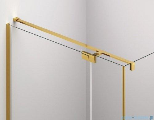 SanSwiss Cadura Gold Line drzwi wahadłowe 140cm jednoczęściowe lewe z polem stałym CA31CG1401207