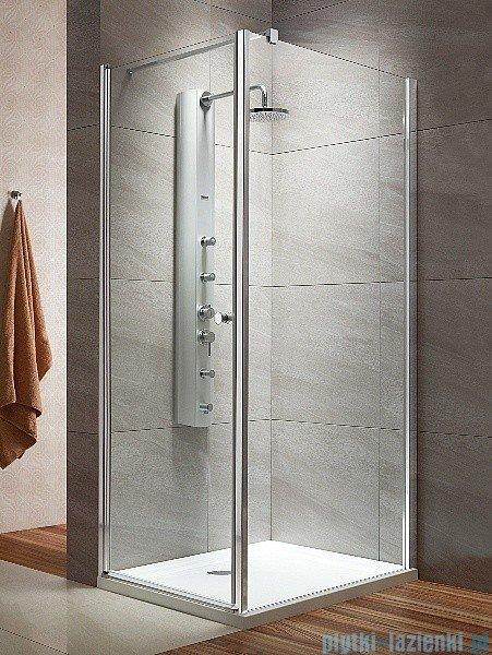 Radaway Eos KDJ kabina prysznicowa 80x80 lewa szkło przejrzyste + brodzik Delos C + syfon
