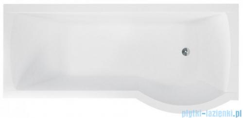 Besco Inspiro 160x70cm wanna z parawanem prawa + obudowa + syfon #WAI-160-PPR/#OAI-160-II/19975
