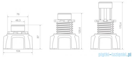 Radaway Nóżki do brodzika komplet 4 szt NB003-W4