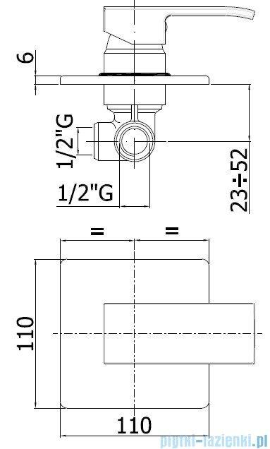 Paffoni Mieszacz podtynkowy Level Standard LES010CR