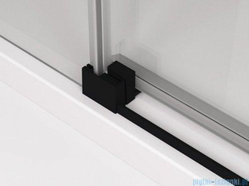 SanSwiss Cadura Black Line kabina Walk in 160cm prawa ze ścianką przesuwną profile czarny mat CAW2D1600607